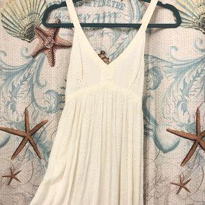 Hollister White Mini Lace Dress
